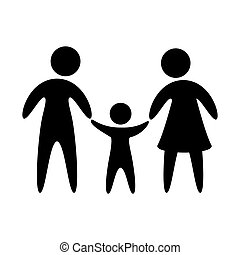 Family vector design - pictogram of family with one son...