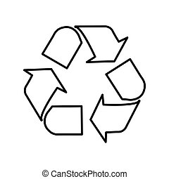 ecological symbol lineal vector design