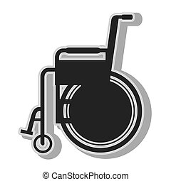 Handicap wheelchair disability , isolated flat icon with...