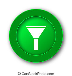 Filter icon Internet button on white background