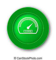 Speedometer icon Internet button on white background