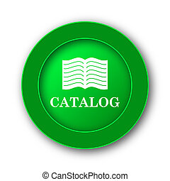 Catalog icon. Internet button on white background.
