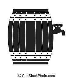 Wine wooden barrel