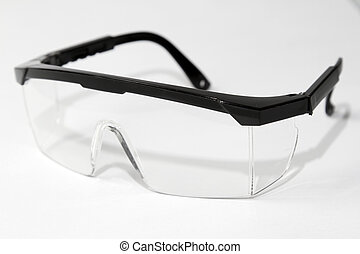 Safety glasses - Closeup of pair of safety glasses