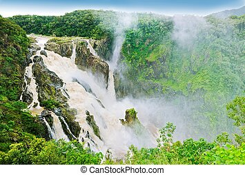 Massive water fall - Barron falls - The Barron Falls -...