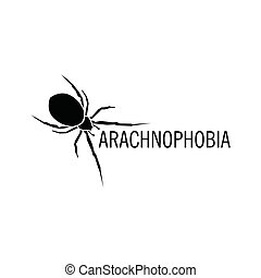 Isolated spider vector logo Insect illustration...