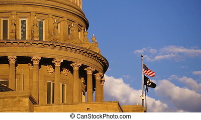Boise Idaho Capital City Downtown Capitol Building...