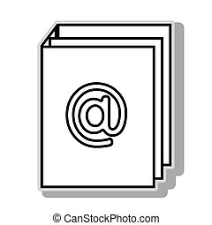 at symbol icon vector illustration graphic design - at...