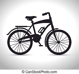 vintage Bicycle isolated icon design