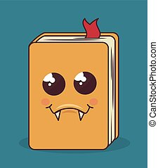 book character isolated icon design