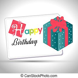 happy birthday gift isolated icon design