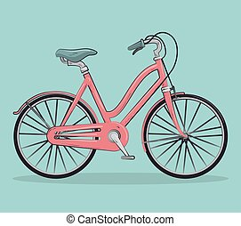 vintage Bicycle isolated icon design, vector illustration...