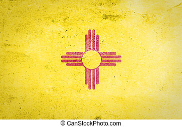 New Mexico state Flag - Grunge New Mexico state Flag