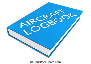 Aircraft Logbook - aviation concept - 3D illustration of...