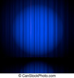 blue curtain from the theatre