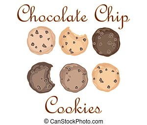 sweet cookies - a vector illustration in eps 8 format of...