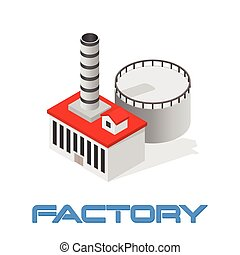 Vector isometric modern industrial and manufacturing factory...