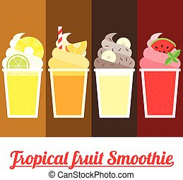 Vector Tropical Smoothie