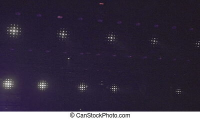 Closeup of stage disco lights.