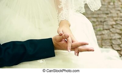 wedding theme, holding hands newlyweds Ukraine