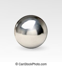 Chrome ball realistic isolated on white background....