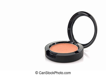 Closeup of face powder. - Closeup of face powder on white...