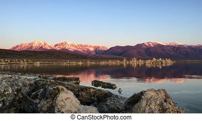 Mono Lake Sunrise Steady Shot - Sunrise at Mono Lake Sierra...
