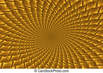 Abstract yellow psychedelic spiral - Abstract fantasy yellow...