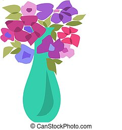 bouquet of beautiful flowers with leafs -2