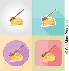 ice cream flat icons illustration isolated on background