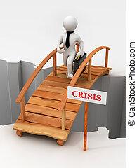 bridge crisis. 3d