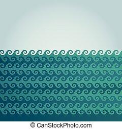 Vector wave background illustration