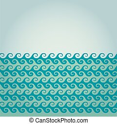 Vector wave background illustration