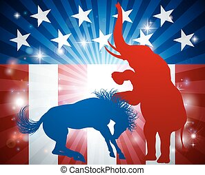 American Election Concept - An American election concept of...