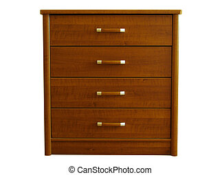 chest of drawers over white