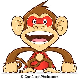 Monkey superhero - Clipart picture of a monkey cartoon...
