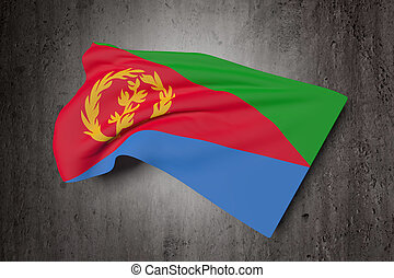 Eritrea flag waving - 3d rendering of Eritrea flag waving on...