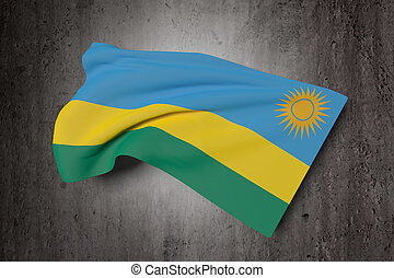 Republic of Rwanda flag waving - 3d rendering of Republic of...