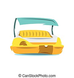 Vector Pedal Boat Cartoon Illustration - A foot pedal boat...