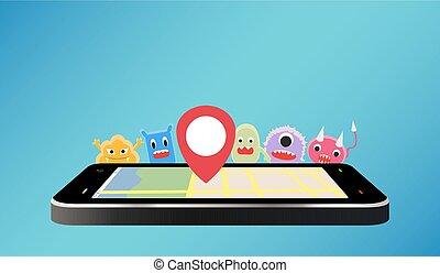 smartphone using gps virus