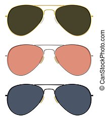 Aviator sunglasses - Classic aviator sunglasses in basic...