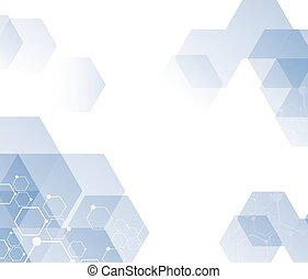 Abstract technology background with molecular structure...