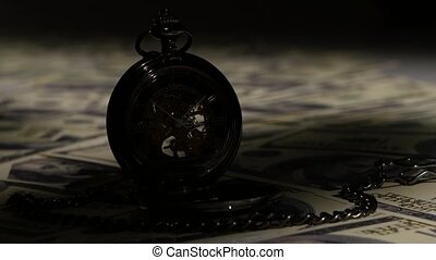 Pocket watch. Close up - Pocket watch, mechanical watch,...