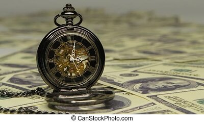 Vintage antique pocket watch Close up - Vintage antique...