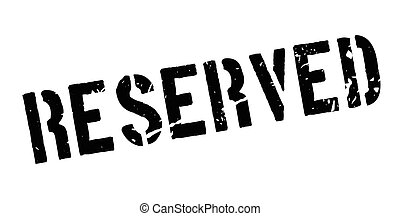 Reserved rubber stamp on white. Print, impress, overprint.