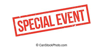 Special event rubber stamp