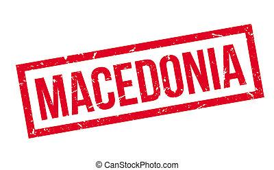Macedonia rubber stamp on white Print, impress, overprint