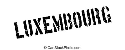 Luxembourg rubber stamp on white Print, impress, overprint