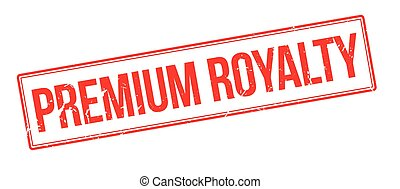 Premium royalty rubber stamp on white. Print, impress,...