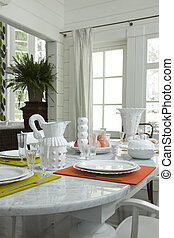 A part of table in dinning room